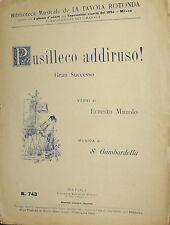SPARTITO BIBLIOTECA MUSICALE DE LA TAVOLA ROTONDA -  PUSILLECO ADDIRUSO ! BIDERI
