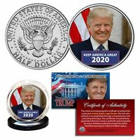 DONALD TRUMP Keep America Great 2020 Genuine JFK Kennedy Half Dollar U.S. Coin