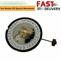 For Ronda 515 Genuine Quartz Movement Date At 3' Watch Repair Parts Accessories