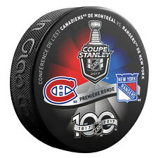 2017 NHL Montreal Canadiens v NY Rangers French Version StanleyCup Playoffs Puck