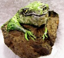 hand painted Lizard on river rock