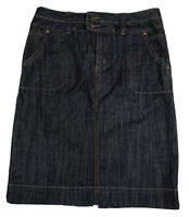 Womens Dark Blue Denim Jeans Pencil Skirt Knee Length Casual Colorado Size 8