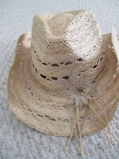 Peter Grimm Straw Cowboy Western Hat NEW womens
