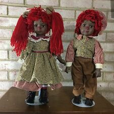 Black RAGGEDY ANN & ANDY Musical Dolls ~ Seymour Mann Connoisseur Collection