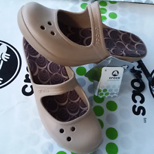 "CROCS FRANCES A LEIGH 3"" WEDGE PATRICIA CYPRUS SANDAL SHOE~Gold Brown~W 6~NWT"