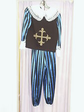 Boys French Musketeer Fancy Dress Costume 140cm Stripey