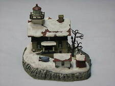 Harbour Lights 712 Lighthouse Michigan City Indiana Christmas 2001 Snow Figurine