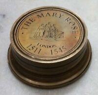 Brass Mary Rose Sundial Compass Antique Sundial Compass Gift Nautical Compass