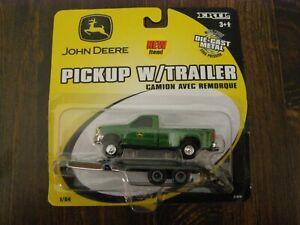 JOHN DEERE PICKUP WITH TRAILER  DIE CAST
