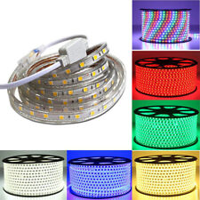 LED Strip Rope Tape SMD 5050 220V 240V Waterproof IP67 Warm Day White Blue RGB