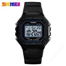 SKMEI Sports Waterproof Mens Kids Watches Quartz Digital Dual Display Wristwatch