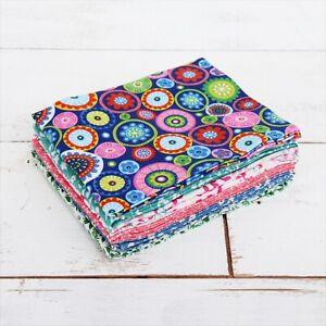 Threadart 6 Fat Quarter Bundles Grab Bags - Variety Prints 100% Cotton Fabric