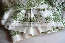 Amore A Sandown & Bourne Green Toile Fabric, Made in Englad, Screen Print