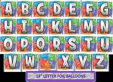 "18"" Alphabet Letters Birthday Party Foil Helium Balloons"