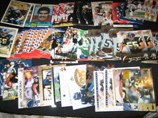 JUNIOR SEAU LOT (45) AUTHENTIC COLLECTIBLE VINTAGE NFL FOOTBALL CARDS