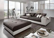 Big Sofa Exclusiv mit Hocker Federkern alle Maße möglich XXL Mega Sofa Couch