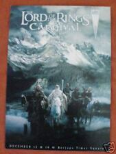 Lord of the Rings Carnival Movie Postcard