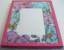 """New listing Handpainted Wooden Picture Frame """"Elephants"""" By Dimitry Zhukov Signed"""