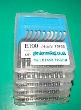 Deburring blades E100 S10 HSS PACK 50 BLADES for aluminium, plastic and steel