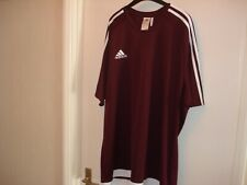 Adidas Climalite Mens Burgundy T shirt Size 2XL - Pre Owned