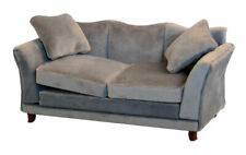 More details for dolls house miniature emporium 1/12th scale modern grey sofa 9317