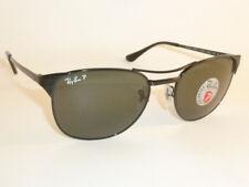 12e553961d New RAY BAN Sunglasses SIGNET Black Frame RB 3429 002 58 Polarized Green  Lenses