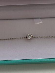 Platinum Diamond Solitaire Bracelet 0.25 VS1 G Valuation Tiffany Cartier