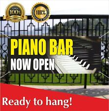 Piano Bar Now Open Banner Vinyl Mesh Banner Sign New Business Grand Opening