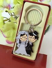 12-Wedding Favors Couple Party Giveaways Keychains-Llaveros Recuerdos De Boda