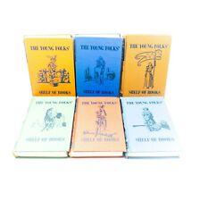 Collier's Junior Classics Young Folks Shelf of Books 1956 6 Volumes Vintage Set