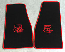 Autoteppich Fußmatten für Chrysler Dodge Viper RT10 schwarz rot 2teilg Velours