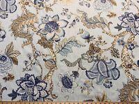 MALAWI CLOUD P Kaufmann Linen Floral Jacobean Drapery Upholstery Print Fabric