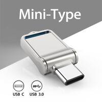 64G Type C Ultra Dual USB3.0 Flash Drive Mini Memory Stick Thumbdrive Waterproof