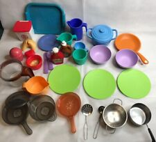 Fisher Price Little Tikes Green Toys Pretend Pans Food Dish Set