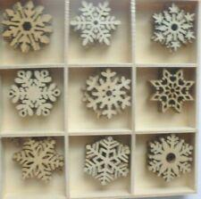New CHRISTMAS  CRAFTS: MINI WOOD SNOWFLAKES  EMBELLISHMENTS