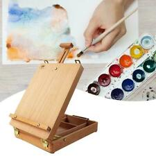 Easel Portable Wooden Tripod Draw Sketch Table Folding Painter Box Desktop