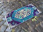 Small rug, Geometric handmade rug, Turkish rug, Kitchen rug | 1,2 x 2,3 ft
