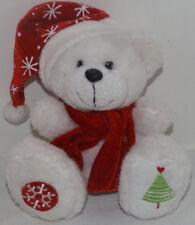 "Dan Dee White Teddy Bear Christmas Snowflake Tree Feet Plush stuffed toy 6"""