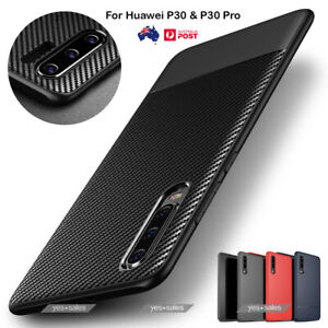 New Shockproof Heavy Duty Carbon Fiber Slim Armor Case Cover For Huawei P30 Pro