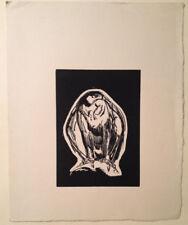 GRAVURE LITHOGRAPHIE ART DECO Aigle royal eagle de PAUL JOUVE