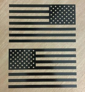 American Flag Sticker Decal (MIRRORED) Set - Vinyl Die Cut Graphic Fits Jeep