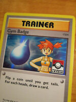 NM LEAGUE Pokemon MISTY'S GYM BADGE Card BLACK STAR PROMO Set XY204 Holo Trainer