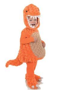 Orange T-Rex Toddler Child Tyrannosaurus Dinosaur Halloween Costume