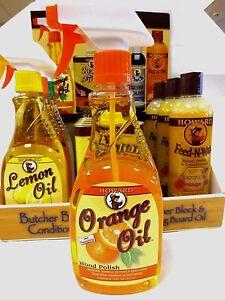 Howard Orange Oil Wood Polish 16oz - CASE/6 BOTTLES