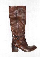 BELMONDO  bottes zippées  cuir marbré brun foncé P 37 TBE