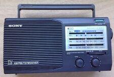 Vintage Sony 4 Band Portable Radio ICF-34 Electric FM/AM Works