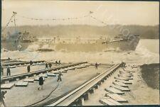 WW2 Landing Ship Tank Ship being Launched  Orig Press Photo