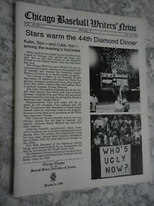1984 Chicago White Sox Cubs Baseball Writers Diamond Dinner Program