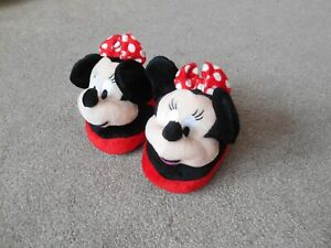 Disney Minnie Mouse Infants child's slippers size 10 - 11 brand new rrp £14