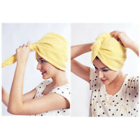 HAIR TURBANTE MICROFIBRA ASCIUGACAPELLI CUFFIA ASCIUGAMANO WRAP MAGIC TOWEL dn